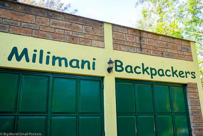 Kenya, Milimani Backpackers, Entrance