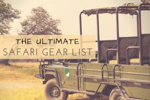The Ultimate Safari Gear Packing List