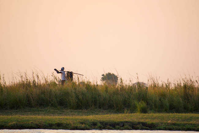 Botswana, Chobe National Park, Local Man