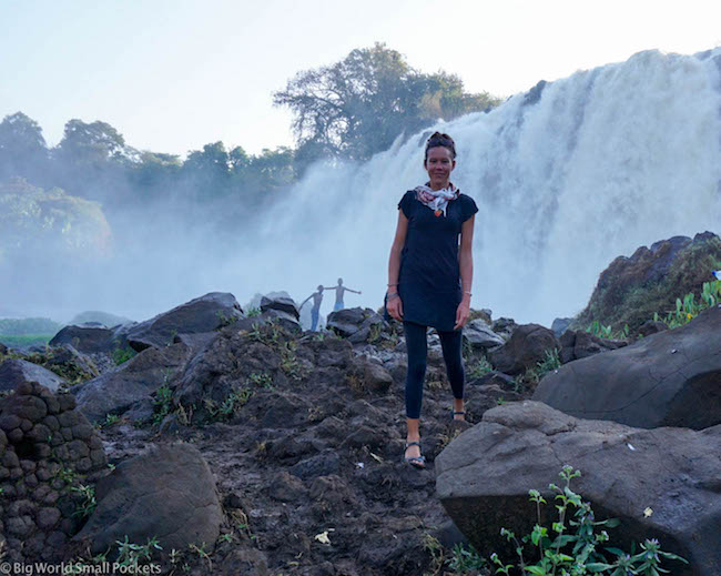 Ethiopia, Bahar Dar, Blue Nile Falls and Me