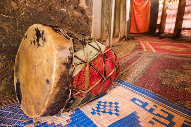 Ethiopia, Bahar Dar, Monastery Drum