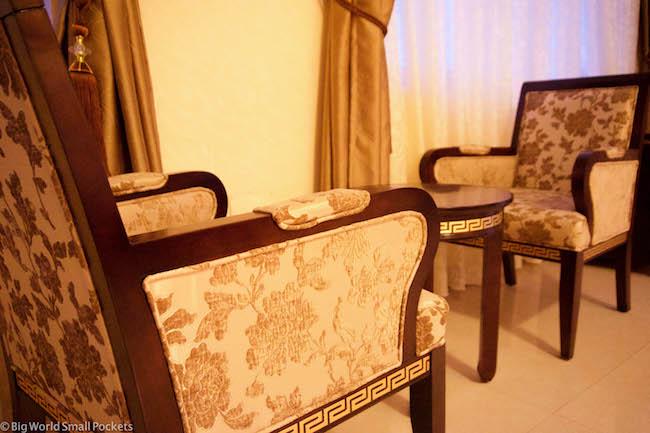 Ethiopia, Bahar Dar, Solyana Hotel Chairs