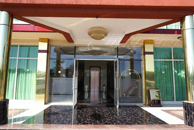 Ethiopia, Bahar Dar, Solyana Hotel Entrance