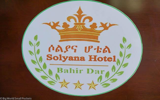 Ethiopia, Bahar Dar, Solyana Hotel