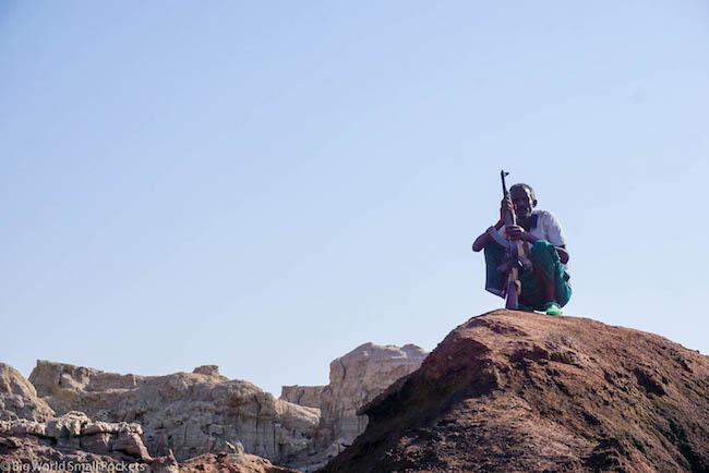 Ethiopia, Danakil Depression, Dallol Guard