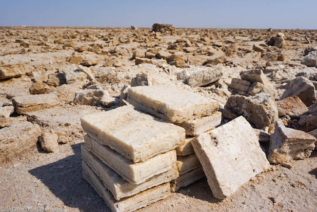 Ethiopia, Danakil Depression, Dallol Salt Blocks