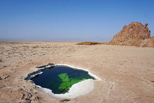 Ethiopia, Danakil Depression, Dallol Salt Puddle