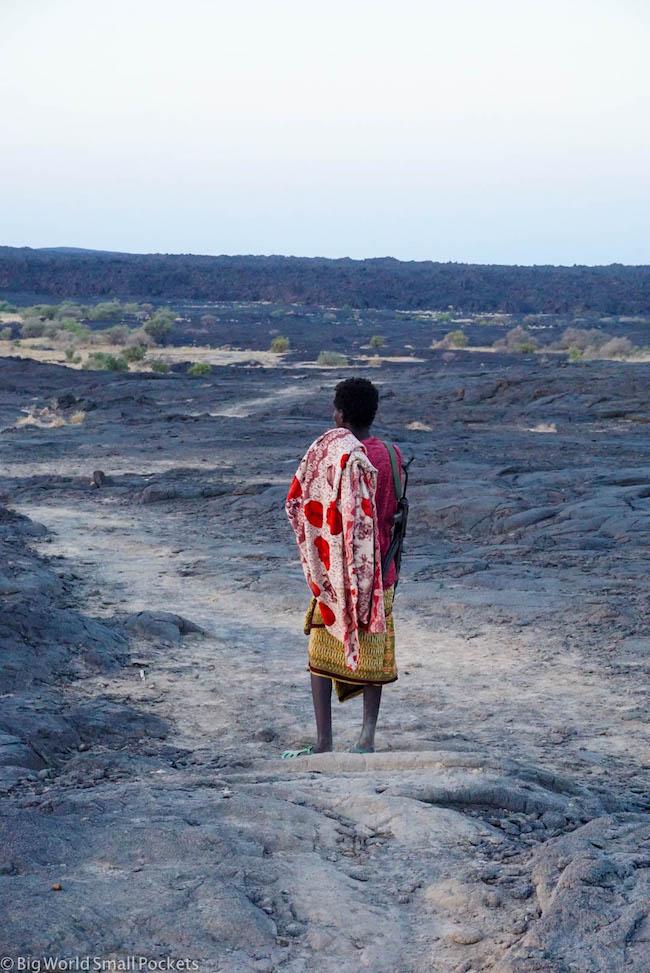 Ethiopia, Danakil Depression, Erta Ale Guard