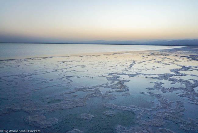 Ethiopia, Danakil Depression, Lake Asale Landscape