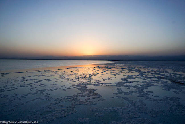 Ethiopia, Danakil Depression, Lake Asale Sunset 3