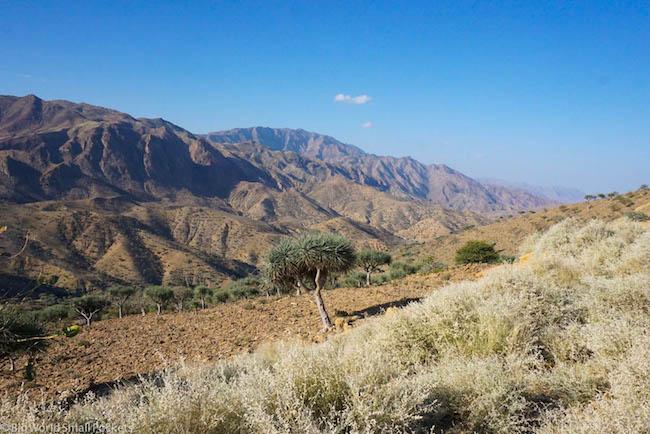 Ethiopia, Danakil Depression, Mountains