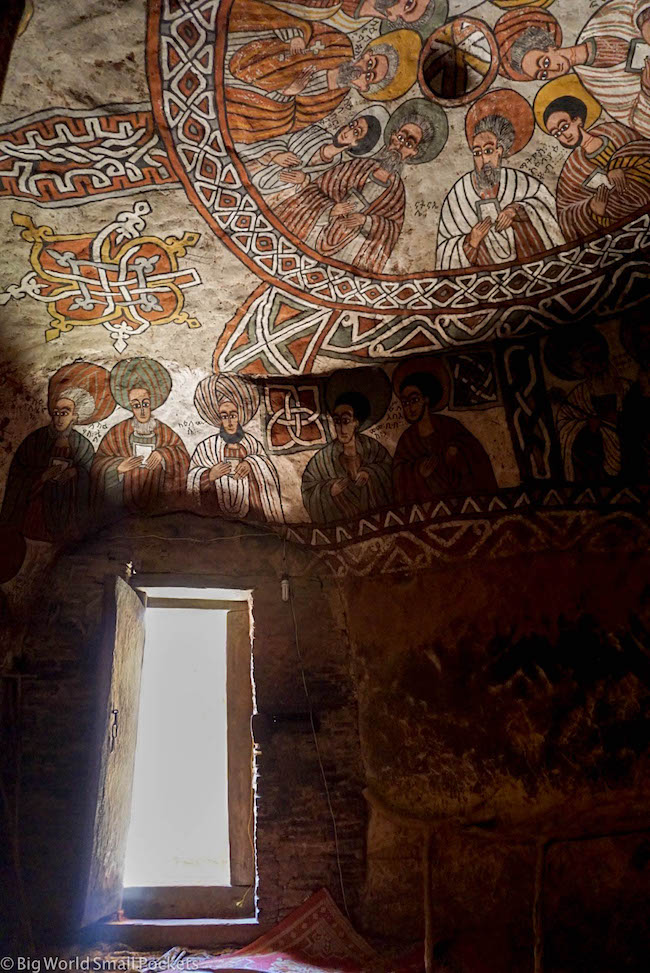 Ethiopia, Tigray Churches, Abuna Yemata Doorway