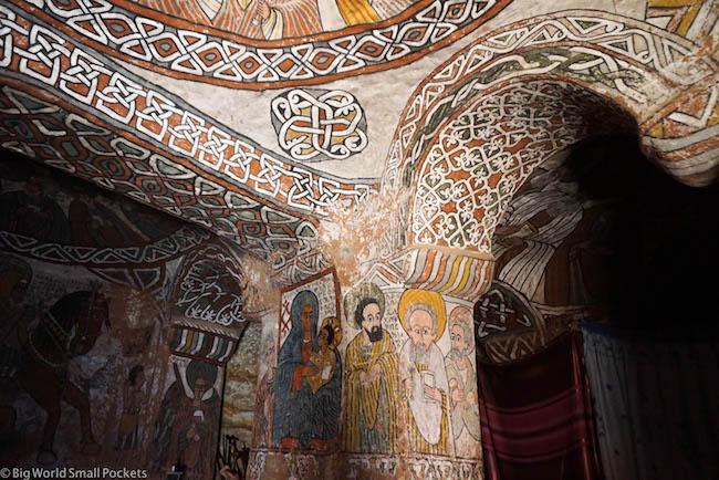 Ethiopia, Tigray Churches, Abuna Yemata Murals 2