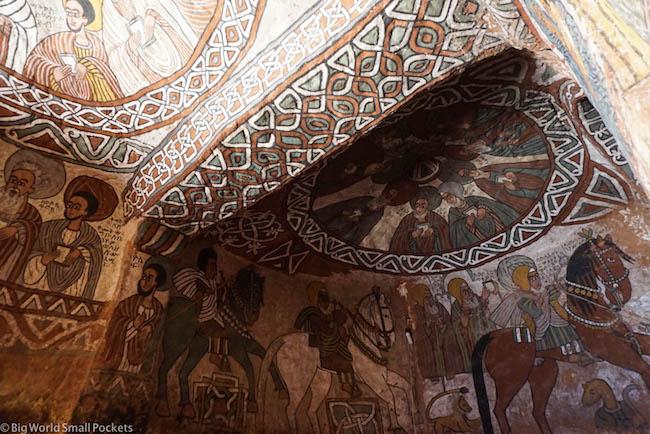 Ethiopia, Tigray Churches, Abuna Yemata Murals 5