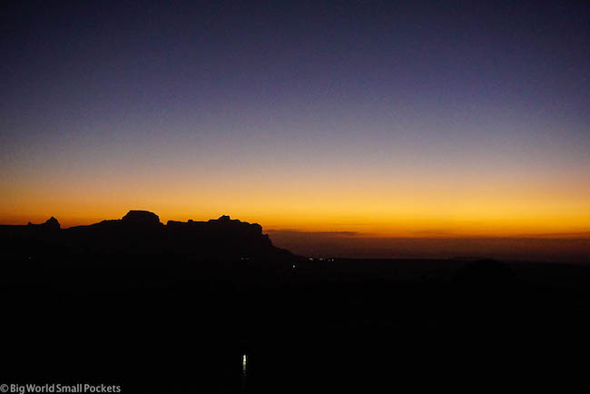 Ethiopia, Tigray, Gheralta Lodge Sunset