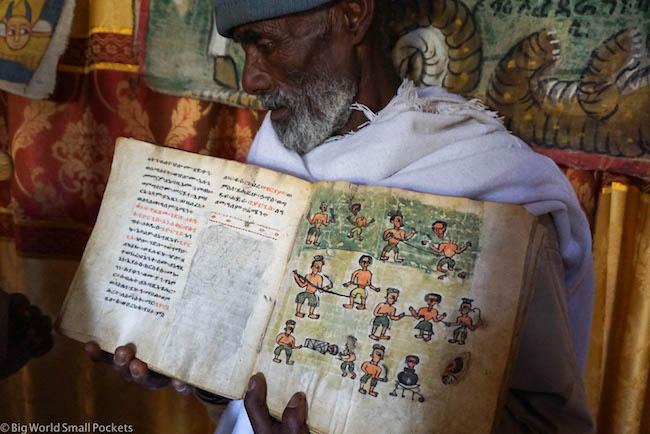 Ethiopia, Tigray, St George's Church Ancient Book