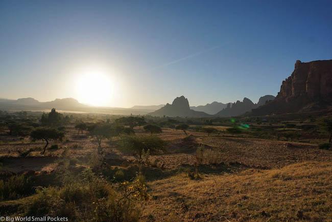 Ethiopia, Tigray, Sunrise