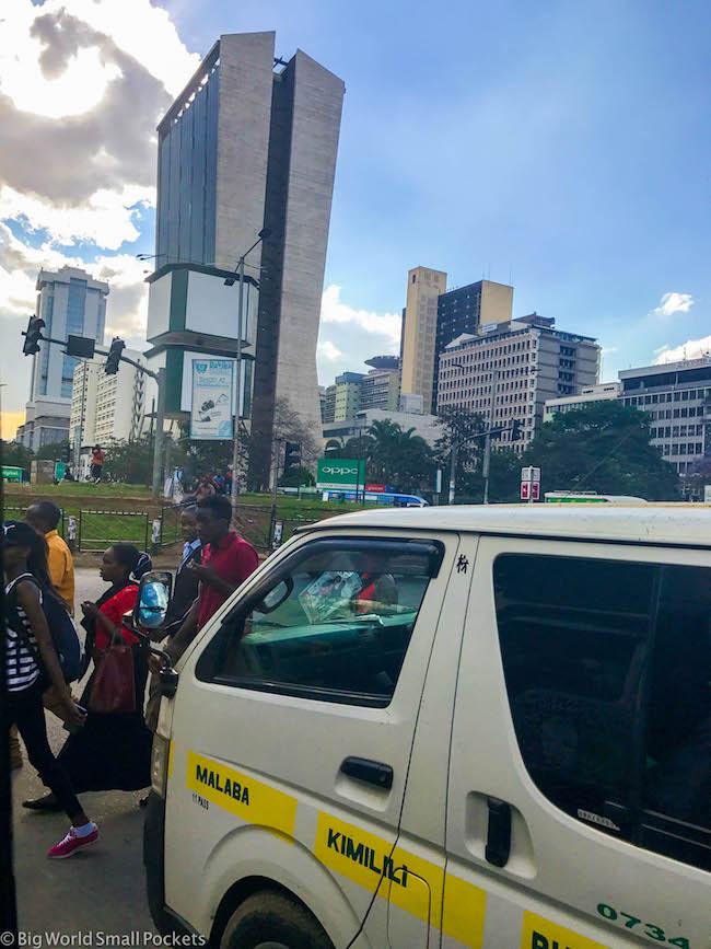 Kenya, Nairobi, Minivan