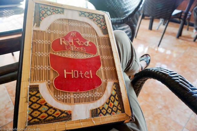 Lalibela, Red Rock Hotel, Menu