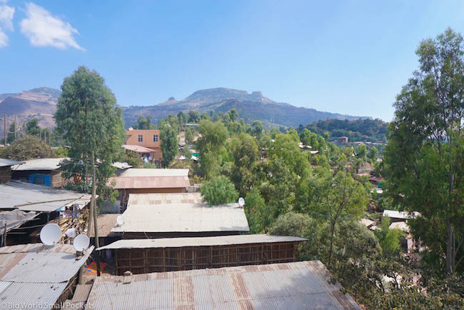 Lalibela, Red Rock Hotel, View 1