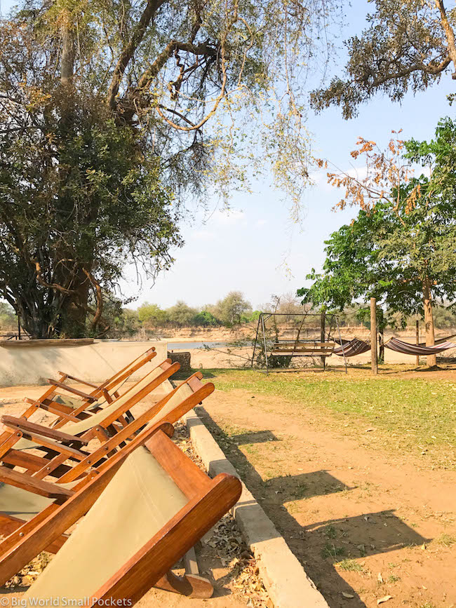 Zambia, Croc Valley Camp, Deckchairs