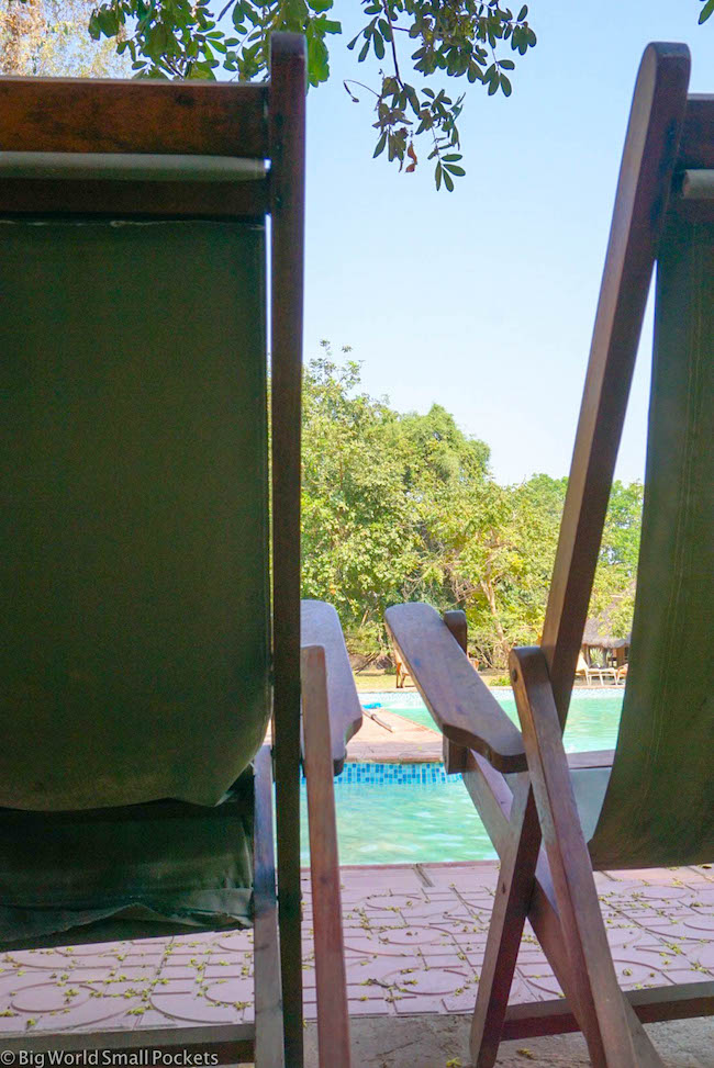 Zambia, Croc Valley Camp, Pool