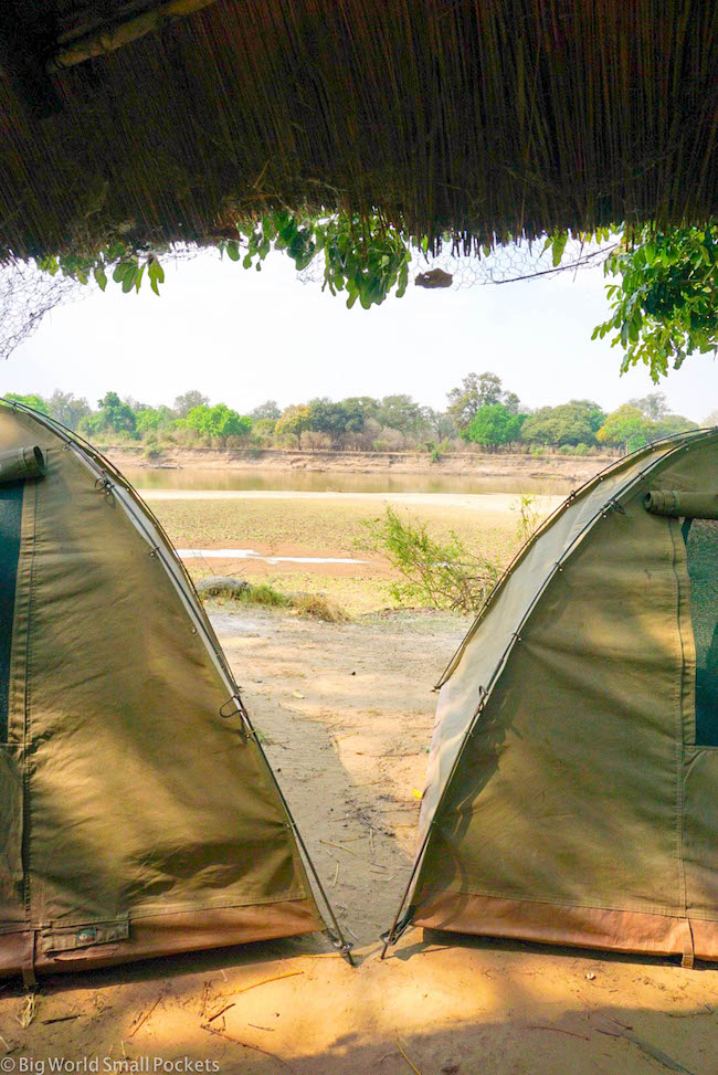 Zambia, Croc Valley Camp, Tents