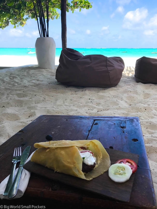 Zanzibar, Paje, Falafel Wrap