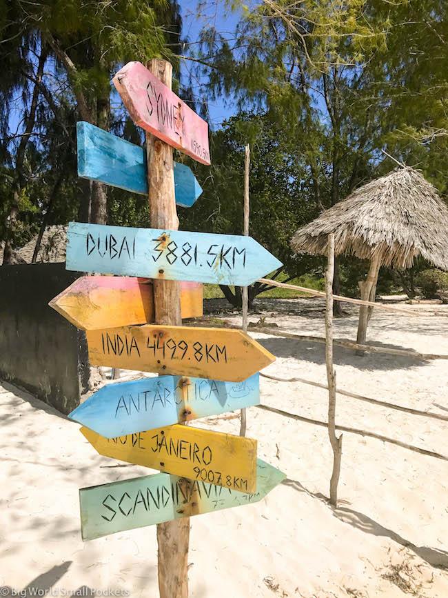 Zanzibar, Paje, Signpost