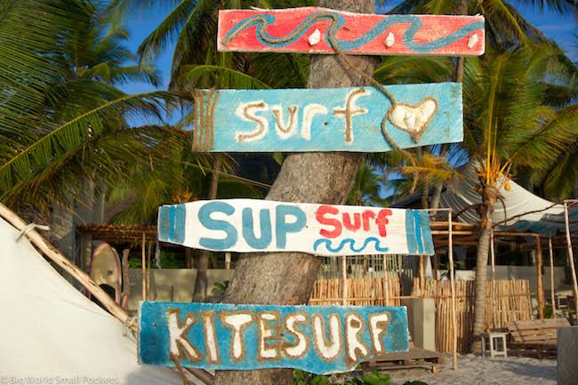 Zanzibar, Paje, Surf Sign