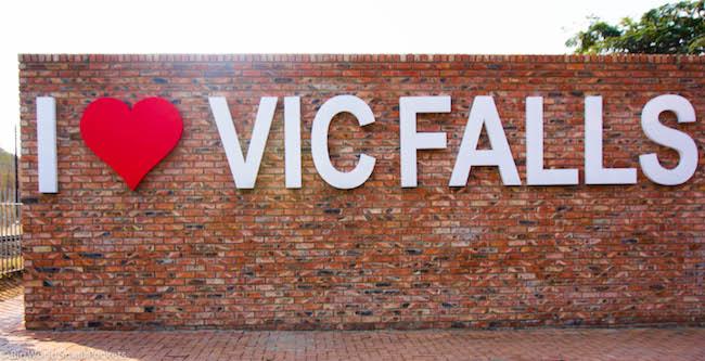 Zimbabwe, Victoria Falls, I Love Sign