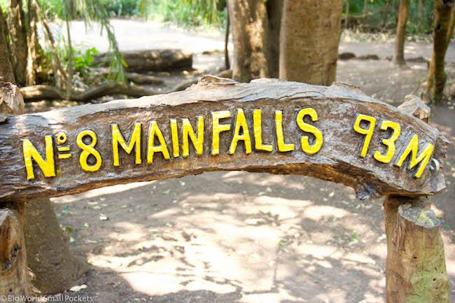 Zimbabwe, Victoria Falls, Main Falls Sign