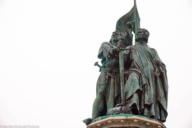 Belgium, Bruges, Statue