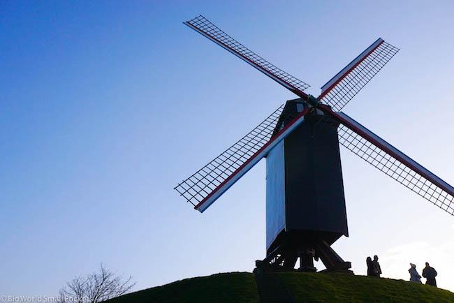 Belgium, Bruges, Windmills