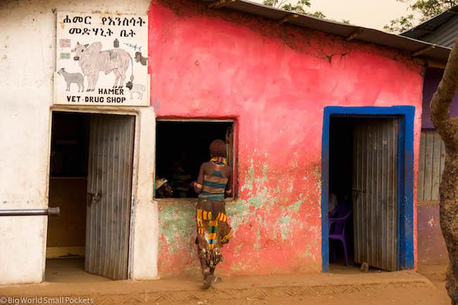 Ethiopia, Hamar, Shop