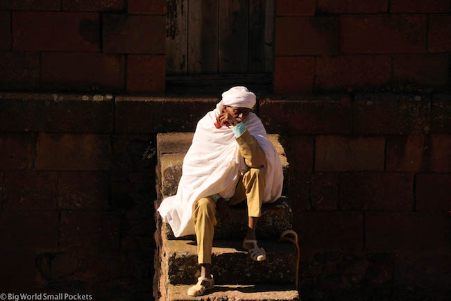 Ethiopia, Lalibela, Old Man