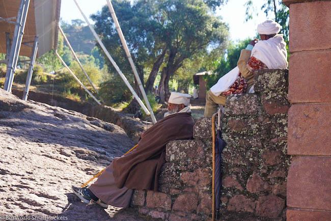 Ethiopia, Lalibela, Old Men on Steps