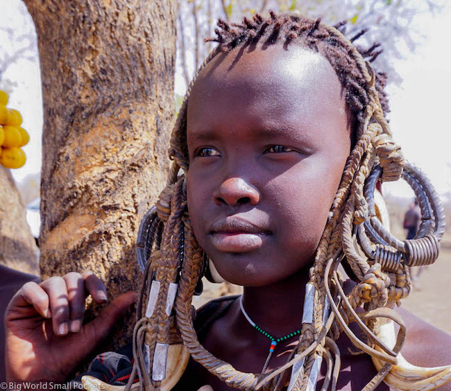 Ethiopia, Mursi, Young Girl