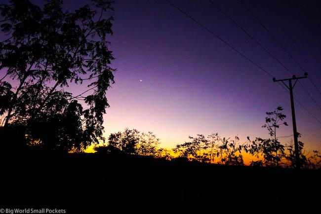 Ethiopia, Omo Valley, Sunset