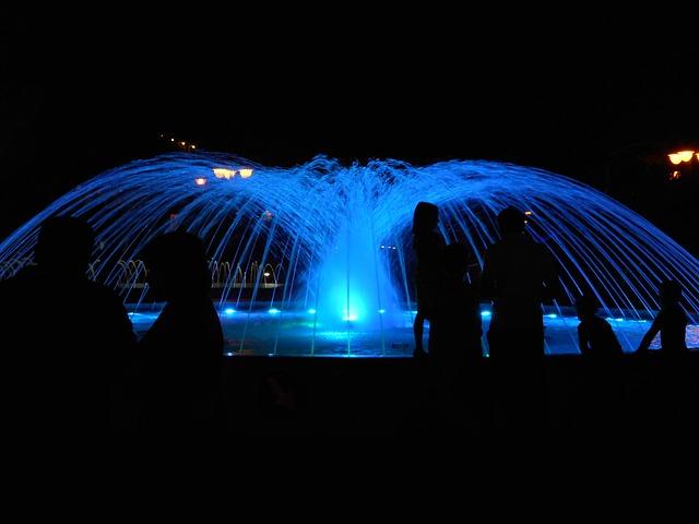 Italy, Bibione, Fountain