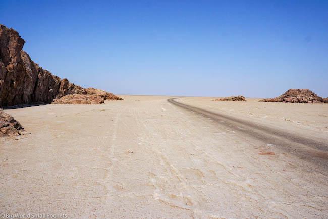 Ethiopia, Danakil Depression, Dallol Road