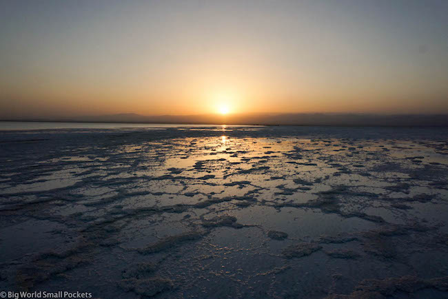 Ethiopia, Danakil Depression, Lake Asale Sunset 2