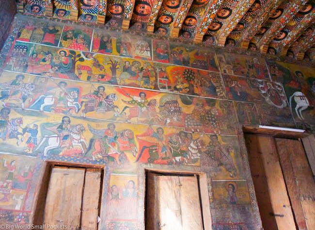 Ethiopia, Gondar, Debre Berhan Selassie Ceiling