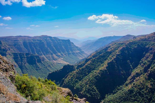 Ethiopia, Simien Mountains, Skyline