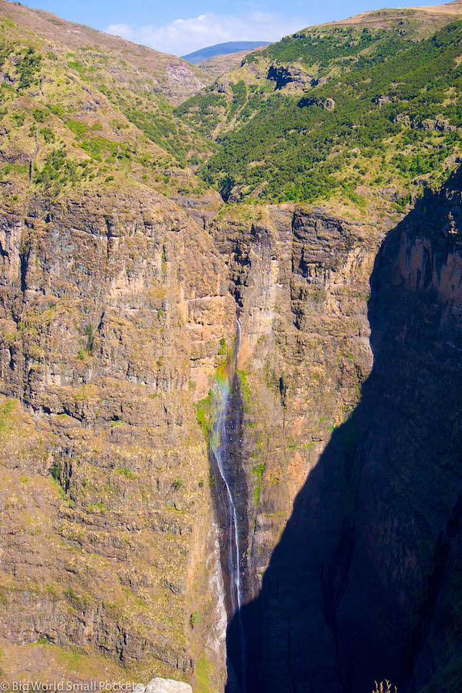 Ethiopia, Simien Mountains, Waterfall