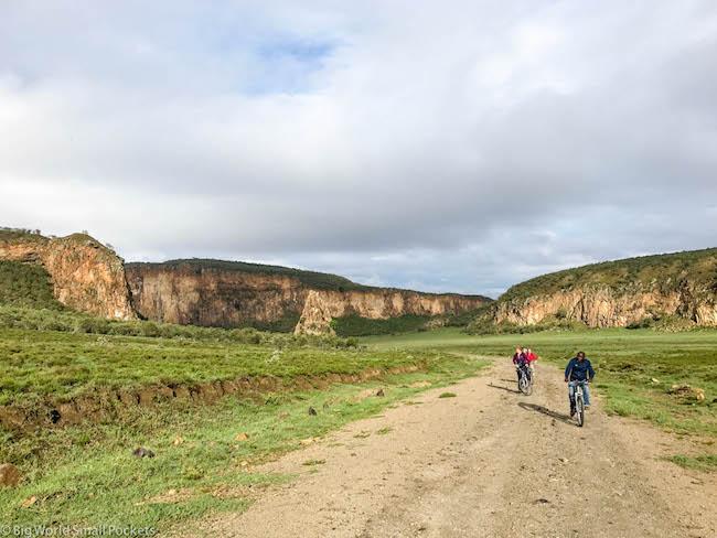 Kenya, Hells Gate NP, Cycling Safari
