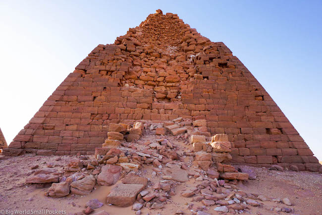 Sudan, Karima, Crumbling Pyramid