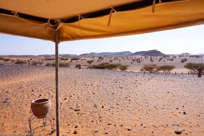 Sudan, Meroe, Meroe Camp Tent View
