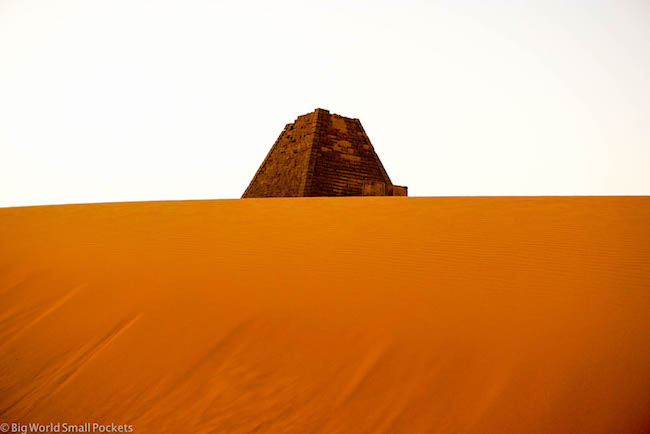 Sudan, Meroe, Sund Dune and Pyramid