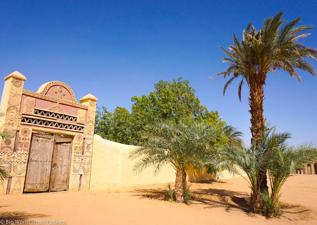 Sudan, Nubian Rest House, Entrance